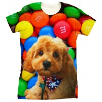 Smarties Rainbow Background T Shirt