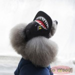 Pets Dogs Cats Hip Hop Black Faux Leather PU Fur Tasty Baseball Cap Hat