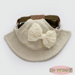 Pets Dogs Cats Pearl Giant Bow Fisherman Cap Hat