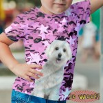Pets Dogs Cats Stars Portrait Customized Crew Neck Short Sleeves Kids T Shirt
