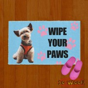 Wipe Your Paws Cats Dogs Pets Personalized Doormat Carpet with Photos Portrait