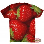 Pets Dogs Cats Strawberries Portrait Customized Crew Neck Short Sleeves Mens T Shirt