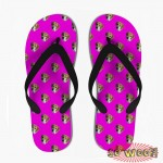 Customized Dog Cat Pet Personalized Portrait Pattern Flip Flops Sandals for Womens
