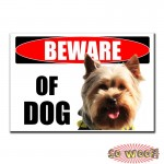Beware of Dogs Personalized Bumper Window Sticker with Photos Portrait