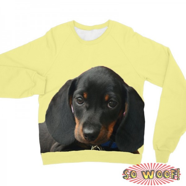 Pets Dogs Cats Face Head Portrait Customized Plain Color Long Sleeves Unisex Fleece Sweatshirt